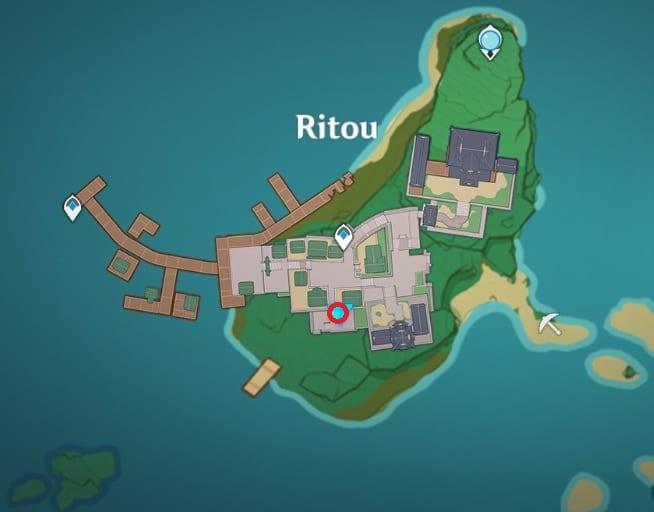 Ryouko location in Ritou