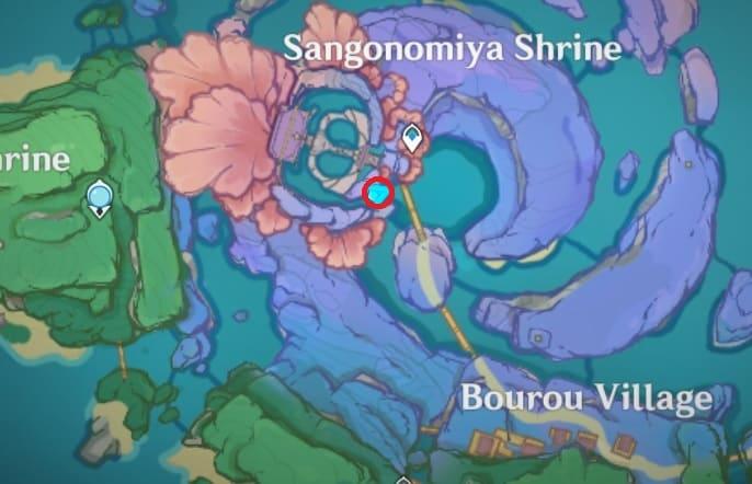103 behind waterfall sangonomiya shrine map