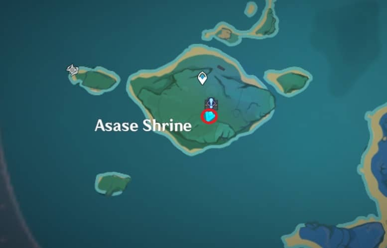 126 electroculus inside hollowed tree behind asase shrine map
