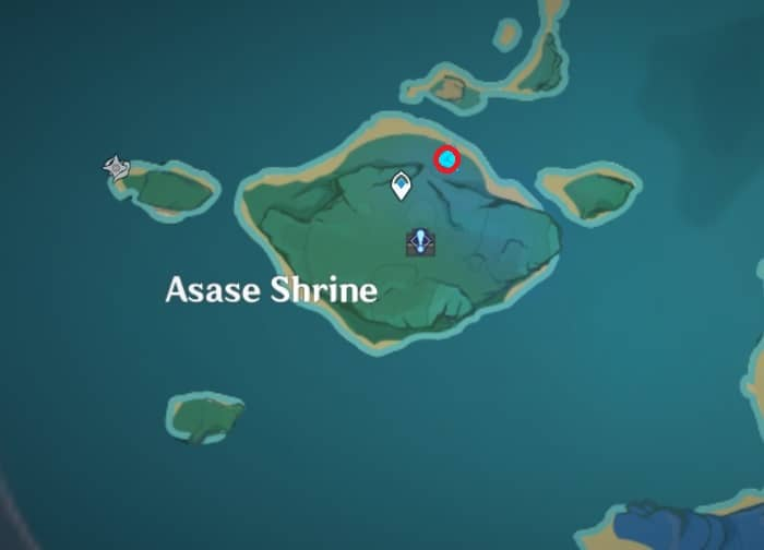 127 electroculus above the gate in asase shrine area map