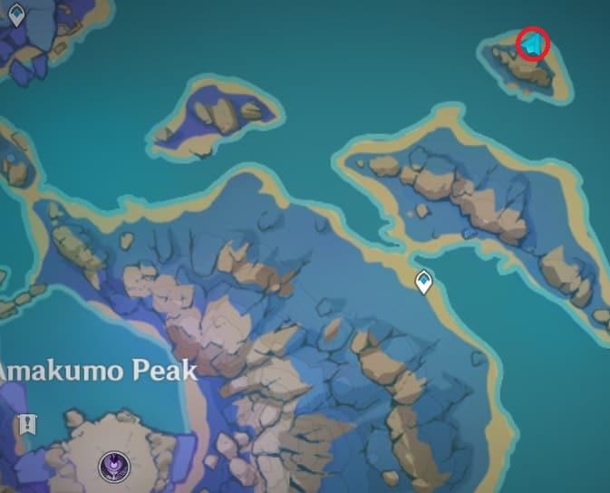 136 electroculus in small islet northeast of amakumo peak map