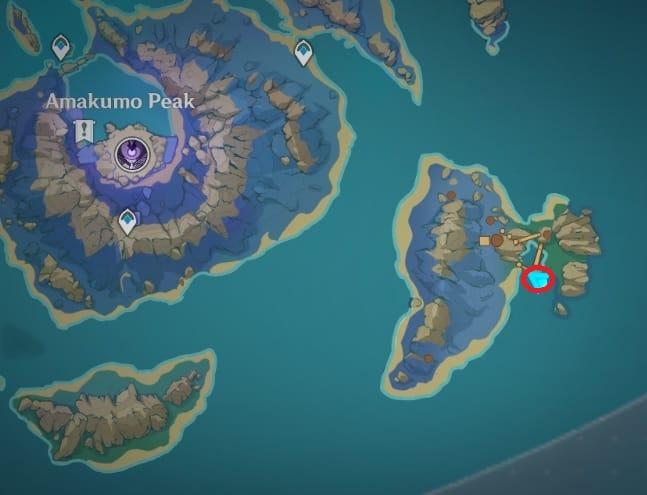 139 electroculus in hilichurl camp island southeast of Amakumo Peak map