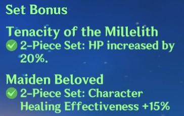 2 Tenacity of the Millelith + 2 Maiden Beloved Set Bonus
