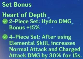 4 Heart of Depth Set Bonus
