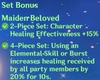 4 Maiden Beloved Set Bonus