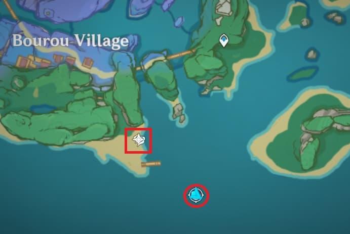 96 Electroculus Southernmost of Watatsumi Island map