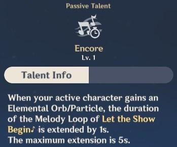Encore Talent Info