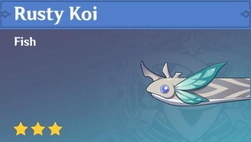 Fish Rusty Koi