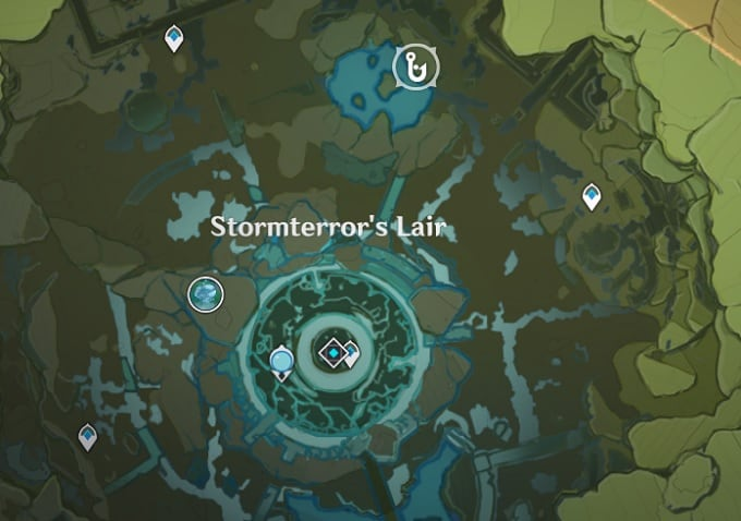 Fishing Location North Side of Stormterrors Lair