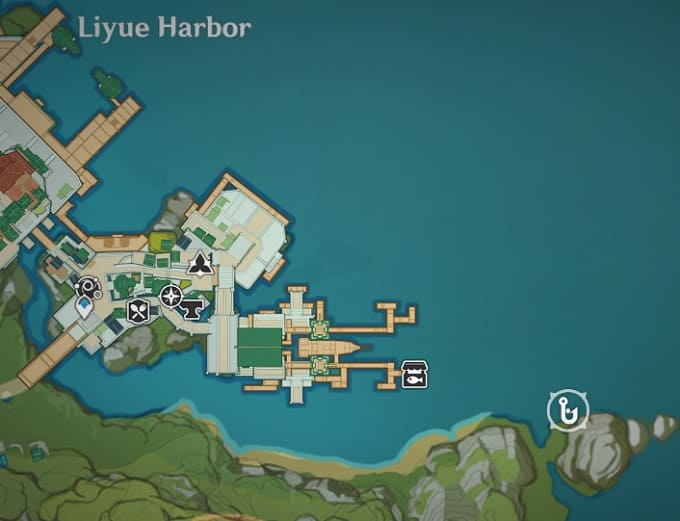 Fishing Location in Liyue Harbor