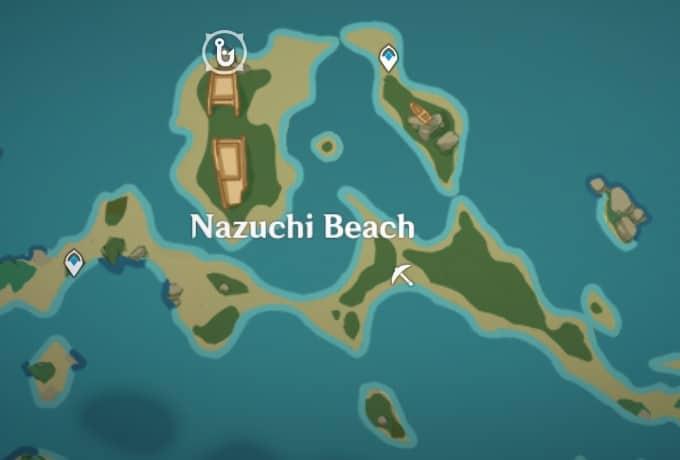 Fishing Location in Nazuchi Beach Shipwreck