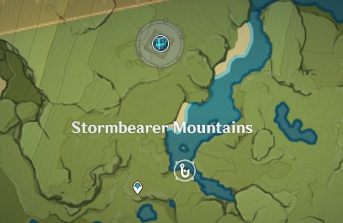 Fishing Location in Stormbearer Mountains