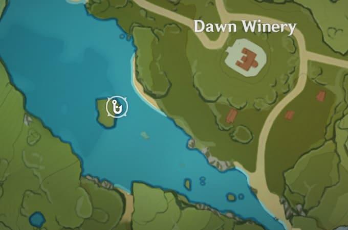 Fishing Location near Dawn Winery