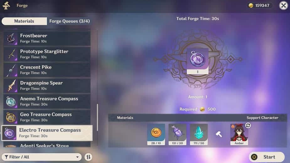Forging Electro Treasure Compass