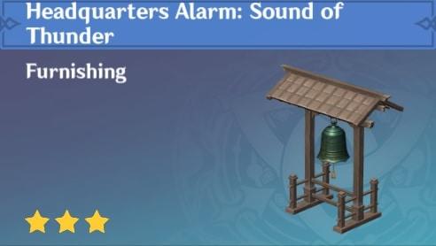 Furnishing Headquarters: Alarm Sound of Thunder