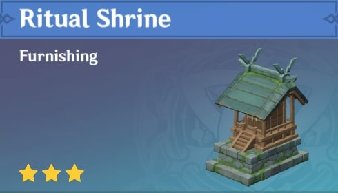 Furnishing Ritual Shrine