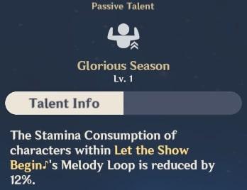 Glorious Season Talent Info