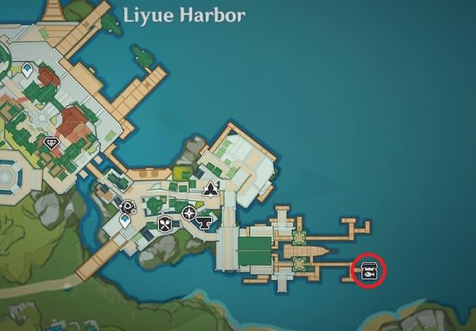 Jiawei Location in Liyue Harbor