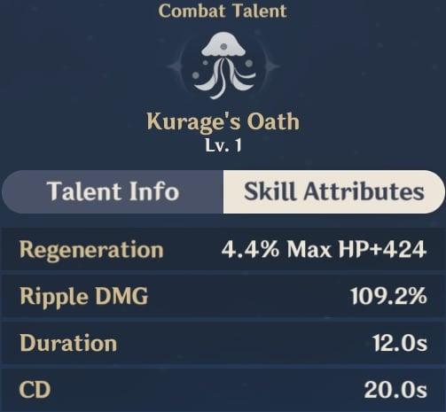 Kurage's Oath Skill Attributes