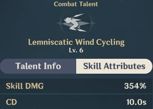 Lemniscatic Wind Cycling Skill Attributes