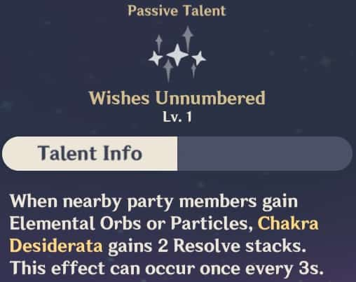 Passive Talent - Wishes Unnumbered