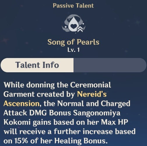 Song of Pearls Talent Info