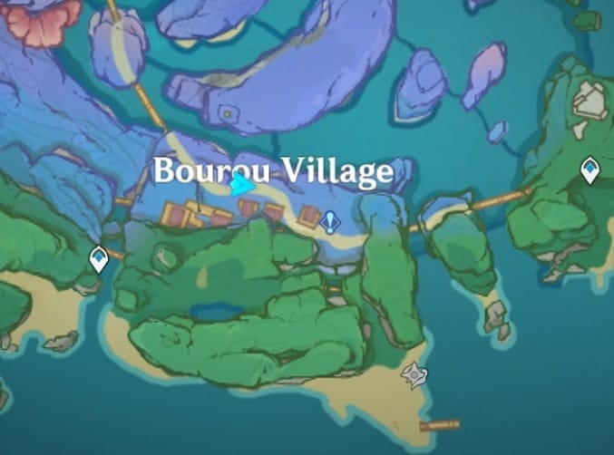 Village of the People of the Deep Map