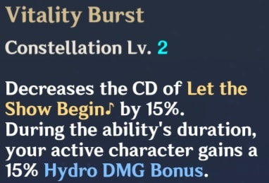 Vitality Burst Description