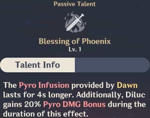 Blessing of Phoenix Talent Info
