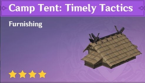 Furnishing Camp Tent Timely Tactics