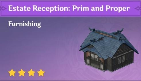 Furnishing Estate Reception Prim and Proper