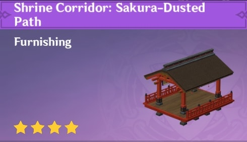 Furnishing Shrine Corridor Sakura Dusted Path