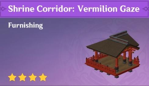 Furnishing Shrine Corridor Vermillion Gaze
