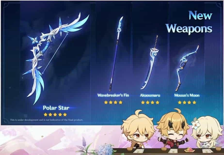 Genshin Impact 2.2 New Weapons