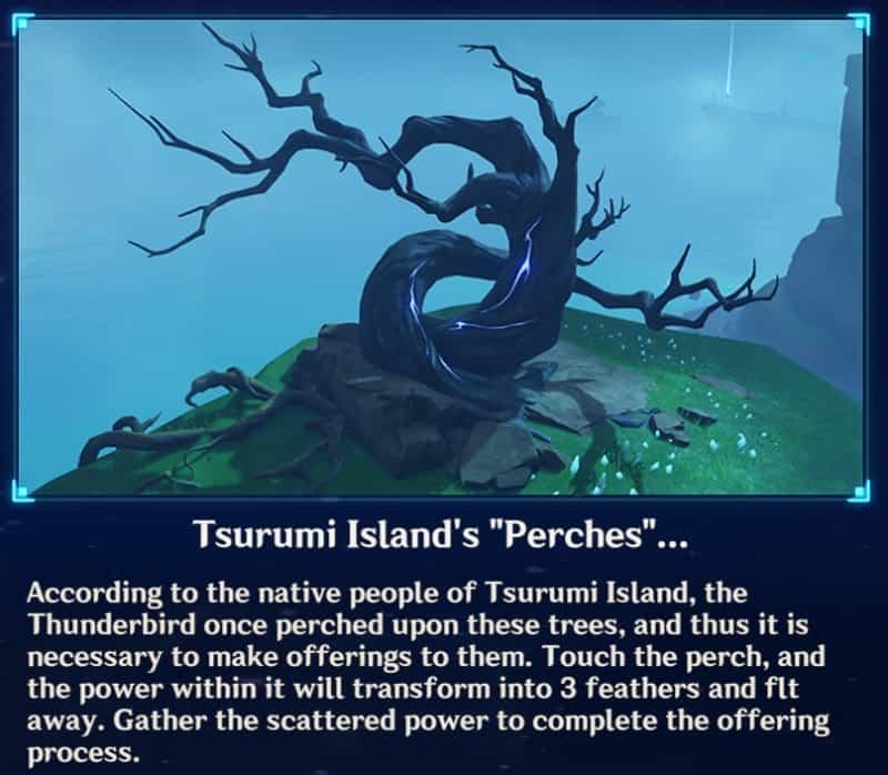 Tsurumi Island Perches